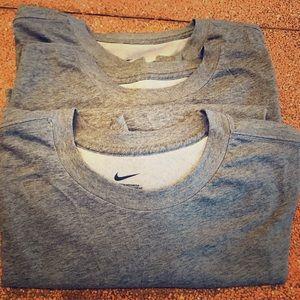 NWOT Men's Big and Tall Nike All-Purpose Gray Tees